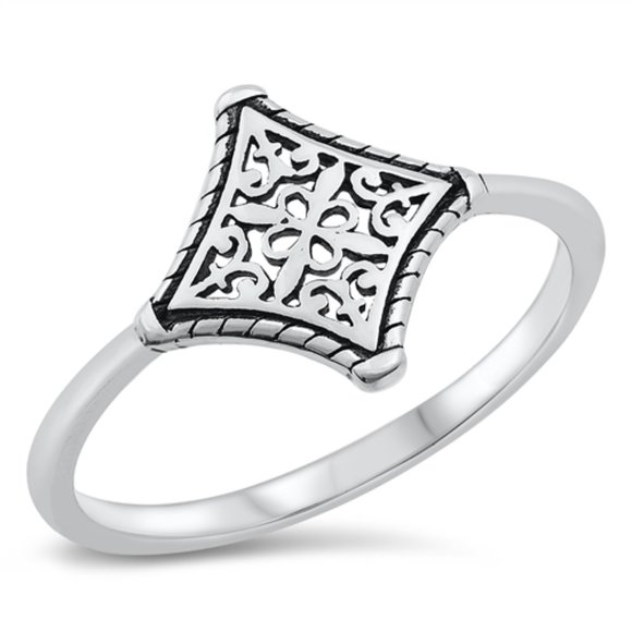Sterling Silver Ring Oxidized 925 Fashion Band